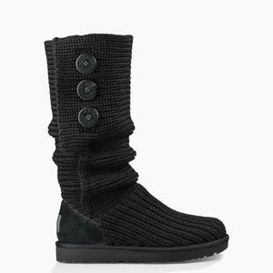 UGG KNIT BUTTON SIDE BOOTS